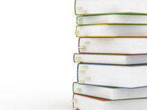 Stacks of books with bookmarks isolated Royalty Free Stock Images