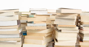 Stacks of books. Isolated on white background royalty free stock photography
