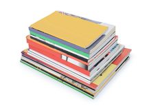 Stacks of books and magazines Royalty Free Stock Images