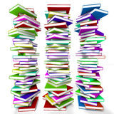 Stacks Of Books Representing Learning Stock Image