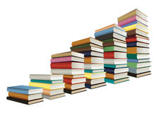Stacks of books, staircase shape Stock Image