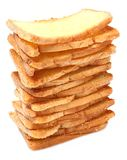Stacks of bread Stock Images