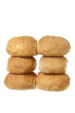 Stacks of Bread Rolls Stock Images