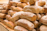 Stacks of bread Royalty Free Stock Photos