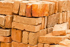 Stacks of Bricks. A Stack of Bricks Isolated on a Construction Site Royalty Free Stock Photos
