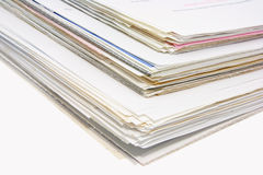 Stacks of Business Documents Stock Photo