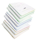 Stacks of Business Documents. On White Background royalty free stock photos