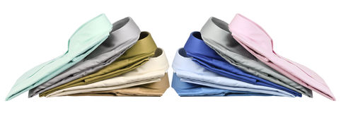 Stacks of Business Shirts Royalty Free Stock Photography