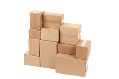 Stacks of cardboard boxes. Stock Image
