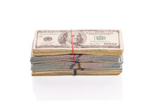 Stacks of cash Royalty Free Stock Photos