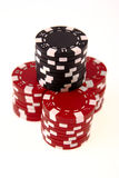 Stacks of casino chips isolated Stock Image
