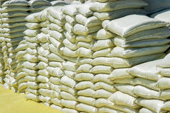 Stacks Of Chemical Sacks Royalty Free Stock Images