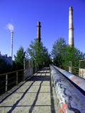 Stacks. Chimney stacks for heating town Stock Images