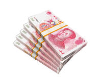 Stacks of Chinese Yuan Banknotes Royalty Free Stock Photo