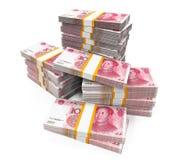 Stacks of Chinese Yuan Banknotes Royalty Free Stock Image