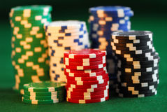 Stacks of chips Royalty Free Stock Photography