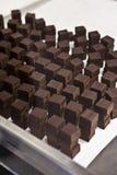 Stacks of chocolate Stock Image