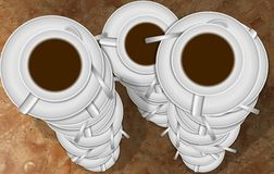 Stacks of coffee cups Royalty Free Stock Images