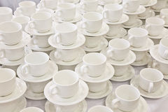Stacks of coffee cups Stock Photos