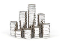 Stacks of coins. Royalty Free Stock Photos