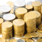 Stacks of coins . Royalty Free Stock Photos