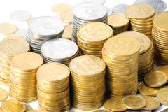 Stacks of coins . Royalty Free Stock Photography