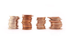 Stacks of coins Royalty Free Stock Image