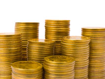 Stacks of coins Royalty Free Stock Photos