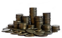 Stacks of coins. A big stacks of coins Stock Photography