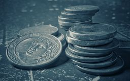 Money from Brazil, currencies from Brazil, cents royalty free stock images