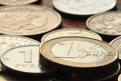 Stacks of coins concept dollars Stock Photography