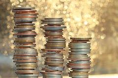 Stacks of coins Stock Photos