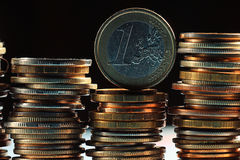 Stacks of coins Stock Images