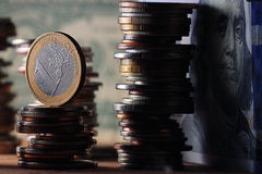 Stacks of coins Royalty Free Stock Images