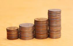 Stacks of coins. Stock Photography