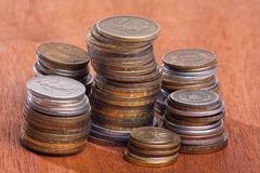 Stacks of coins Stock Image
