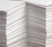 Stacks of Collated Paper Royalty Free Stock Photography