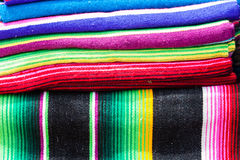 Stacks of colored blankets Royalty Free Stock Photo