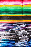 Stacks of colored blankets Royalty Free Stock Photos