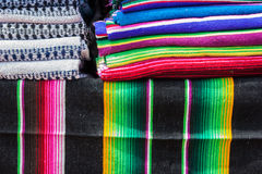 Stacks of colored blankets Royalty Free Stock Image