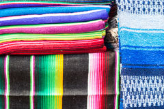 Stacks of colored blankets Stock Photography