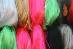 Stacks of colored hair Stock Photos