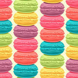 Stacks of colored macaroons Stock Photography
