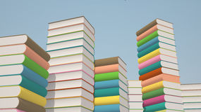 Stacks of colorful books Stock Images