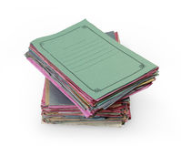 Stacks of colorful folders Stock Images