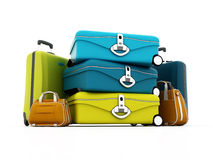 Stacks of colorful luggage Royalty Free Stock Photo