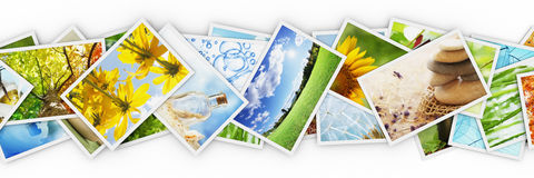 Stacks of colorful photos Royalty Free Stock Image