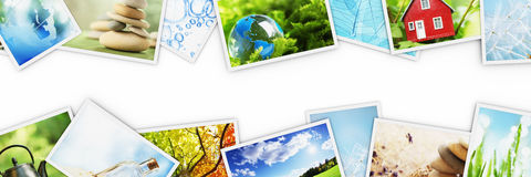 Stacks of colorful photos Royalty Free Stock Photos