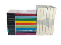 Stacks of colorful real books Royalty Free Stock Images