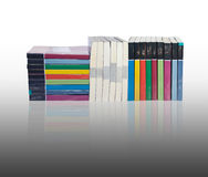 Stacks of colorful real books Stock Images